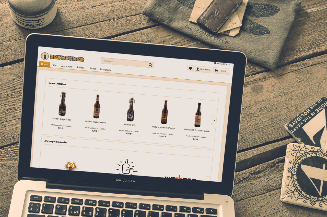 Craft Beer Onlineshop Brewcomer